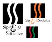 Sip and Social logo design