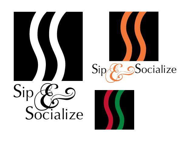 Sip and Social logo design