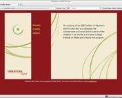 Vibrations Flash Web Site