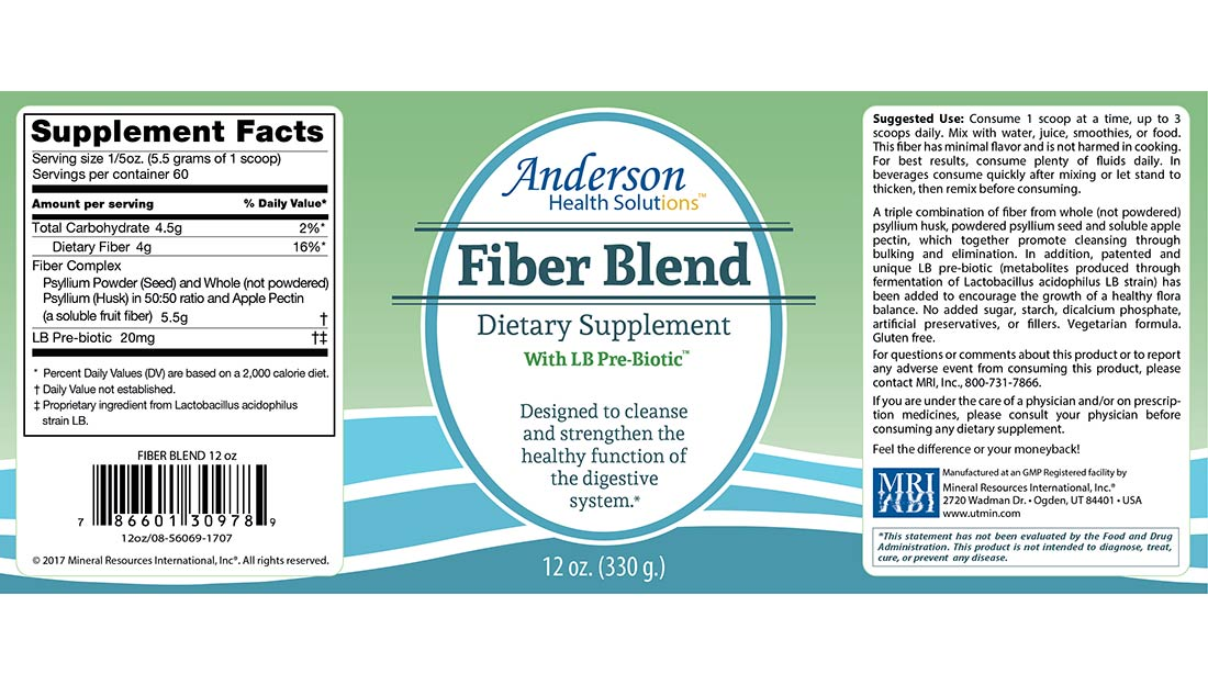FiberBlend 12-oz label