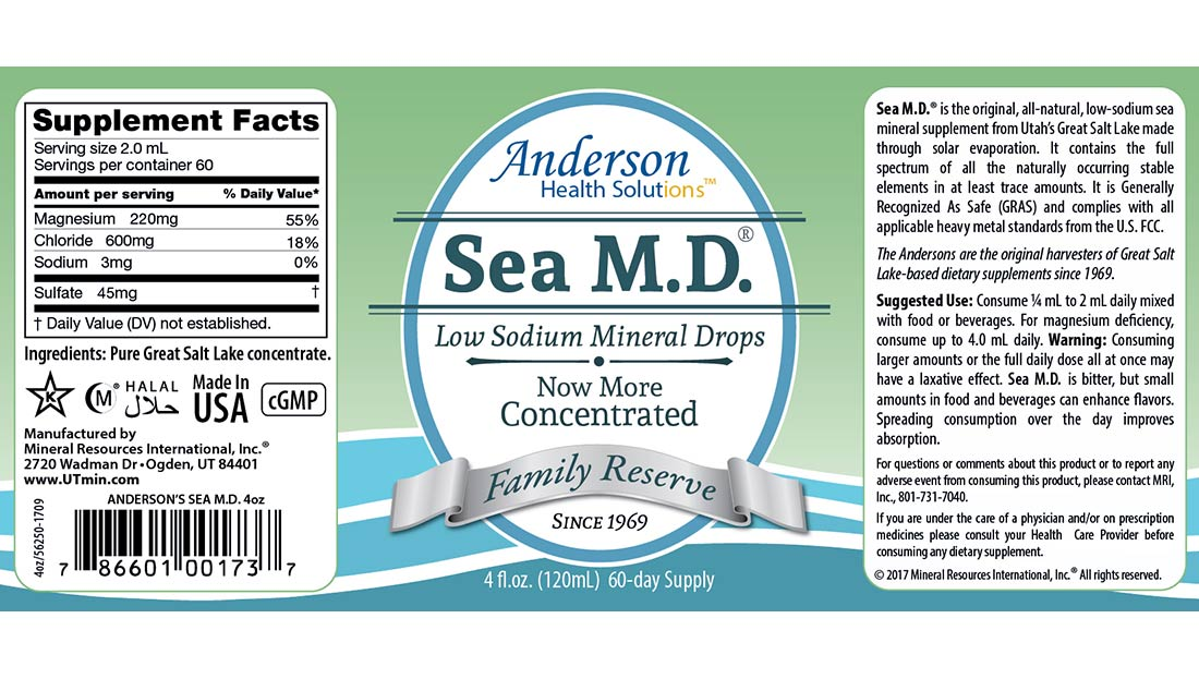 Sea M.D. 4-oz label