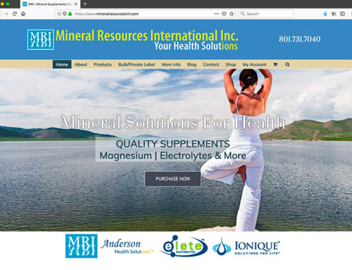 Mineral Resources International: Full product site