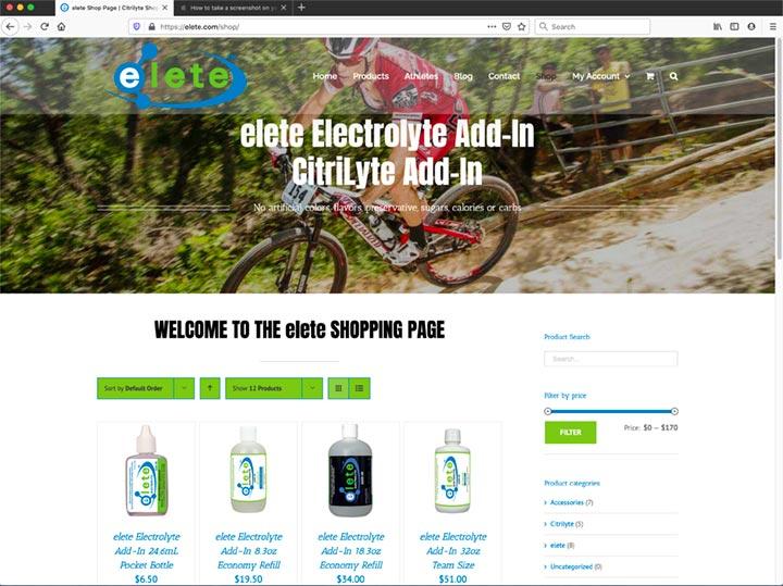 elete.com ecommerce nutritional supplements